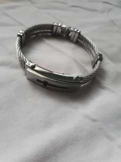 Charriol inspired bracelet thick with lock