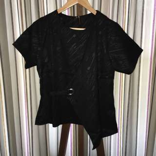 Black Assymetric Top