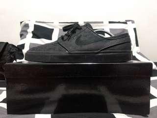 Nike SB Janoski Black Ostrich Leather Rare Sneakers