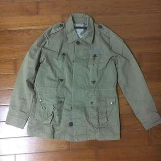 🚚 古著 軍綠 排扣外套