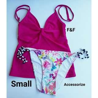 Tankini and Floral Bikini - Small