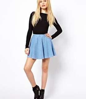 Denim Skater Skirt