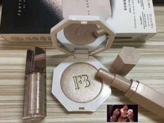 Fenty beauty highlighter set with lipgross $150!!