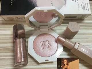 Fenty beauty highlighter set with lipgross $150
