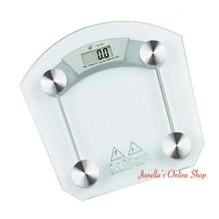 Digital LCD Electronic Weighing Scale (Tempered Glass)
