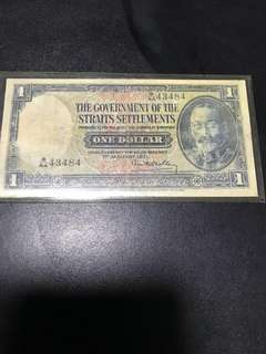 The Govt of the Straits Settlement $1 note issued 1 Jan 1931