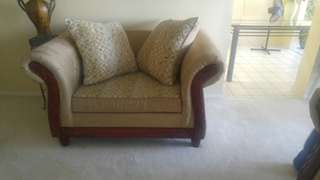 Suede Sofa/ Chesterfield Set