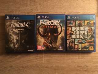 PS4 game gta v far cry fallout