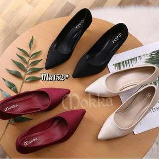 [MOKKA CHARLENE HEELS MK-152] Sepatu Fashion Wanita Impor Murah