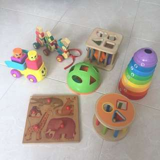 Bundle Hape Fisher Price Baby wooden toys