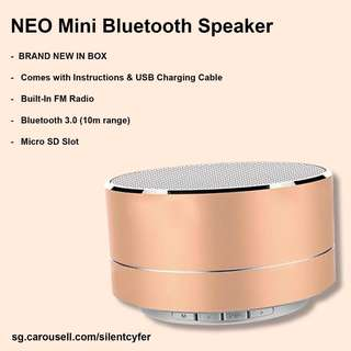 BNIB NEO Mini Bluetooth Speaker (LOUD & BASSY!)