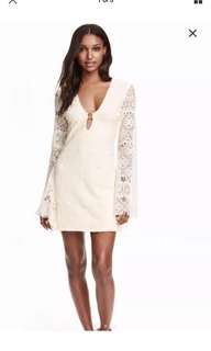 Lace dress natural white