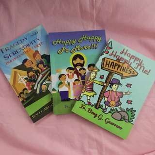 """Set of 3 Books by Father Alfredo """"Bong"""" G. Guerrero"""