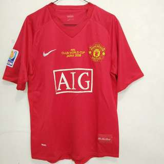 Jersey Retro Manchester United MU Final Club World Cup 2008