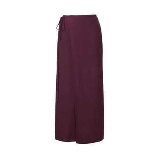 Uniqlo Rayon Relaxed Wrap Long Skirt