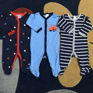 NEXT baby sleepsuits