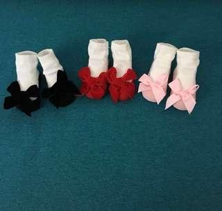 Baby Girl Bow Socks