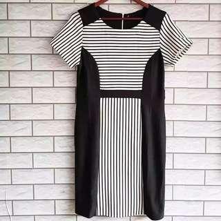 Blackwhite stripe dress