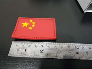 China Flag with Velcro for bags or collection country flag
