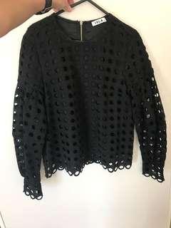 Isla black dress top