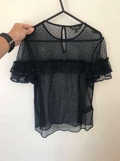 Miss selfridge mesh top