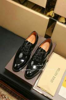 LV Half-Embossed Leather Shoes