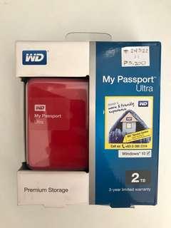 2TB Western Digital Passport Ultra External Hardrive