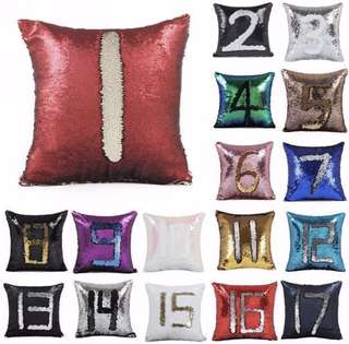 Magic Reversible Mermaid sequin Cushion Covers