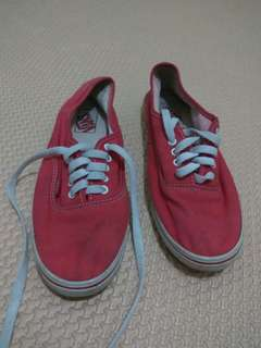 sepatu vans cewe cowo merah merona