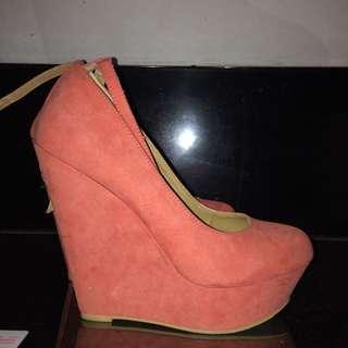 Forever21 Wedge Heels (pink)
