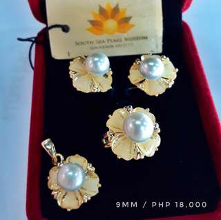 South sea pearl jewelry set