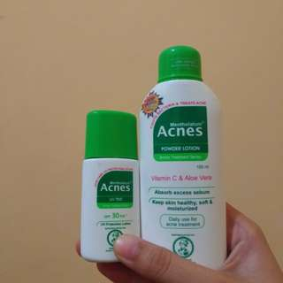 Acnes uv tint and acnes powder lotion