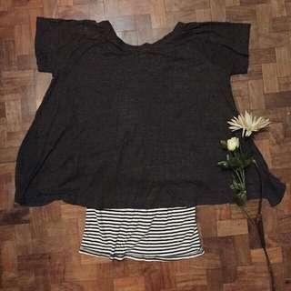 black stripes hanging blouse