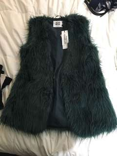 BNWT faux fur vest from Mendocino size M