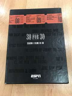 30 for 30 DVD 12 disc (season I FilmS 01-30)