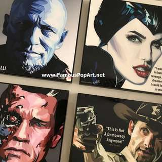 Yondu Terminator Rick Grimes PopArt! Portrait Wall Pop Art