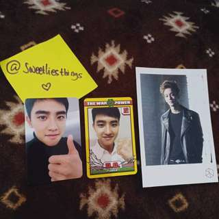 (JUAL MURAH!!) Official Photocard EXO D.O Kyungsoo Power Sing For You, Chen Exodus