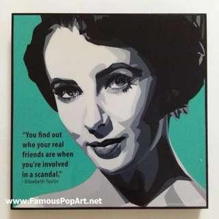 Elizabeth Taylor PopArt! Portrait Wall Decoration Pop Art