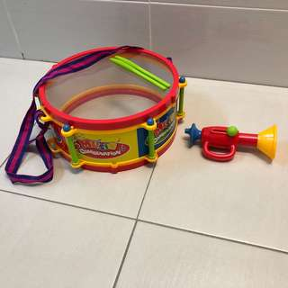 Music toys - drum and trumpet