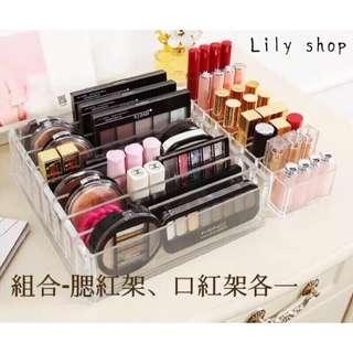 🚚 【lily shop】⚠️預購  catie推薦 透明壓克力  大款眼影收納 指甲油 眼影架 腮紅架 展示架