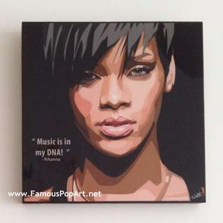 Rihanna PopArt! Portrait Wall Decoration