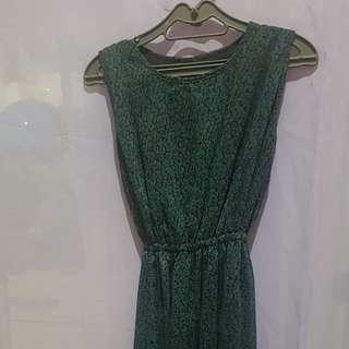 Blue /Green printed dress
