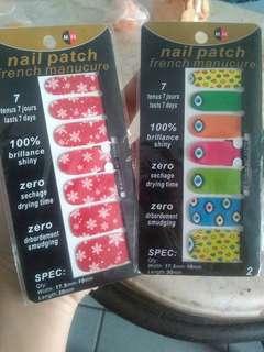 (SALE) Nail stickers (Nail art / stiker kuku)