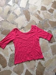 Low back 3/4 shirt