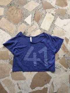Zara crop top with holes