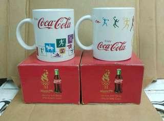 全新 可口可樂 1996年 亞特蘭大 奧運 紀念水杯一對