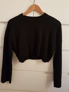 Zara Knit Black Crop Top