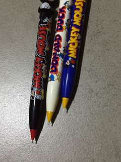 Mickey Mouse mechanical pencil 3pcs made in Japan