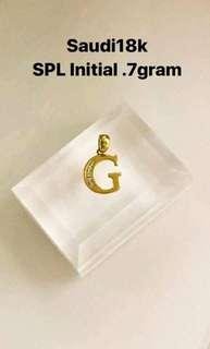 PENDANT 18K SAUDI GOLD AUTHENTIC