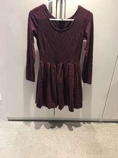 Aritzia maroon dress